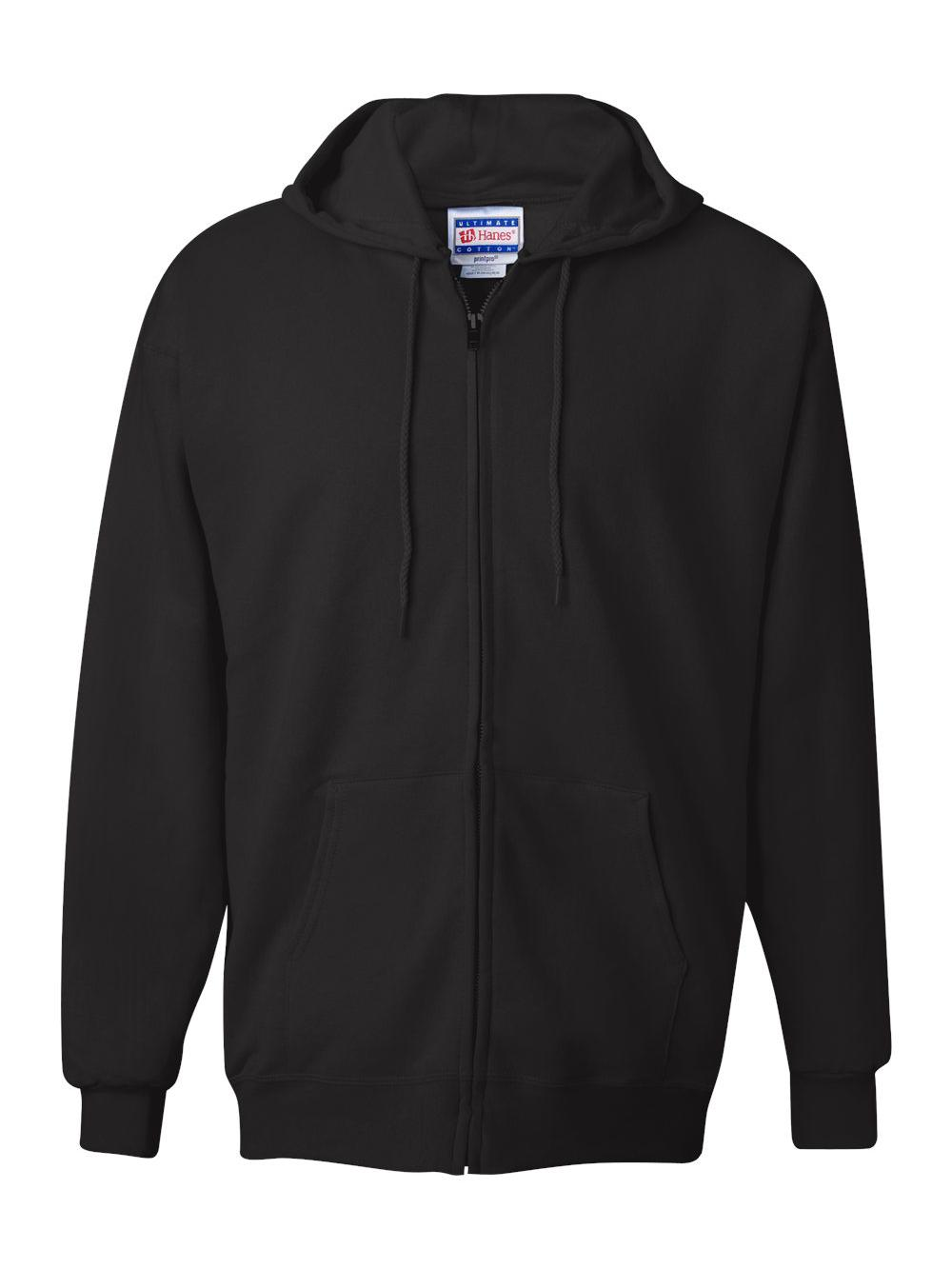 Hanes-Ultimate-Cotton-Full-Zip-Hooded-Sweatshirt-F280 thumbnail 3