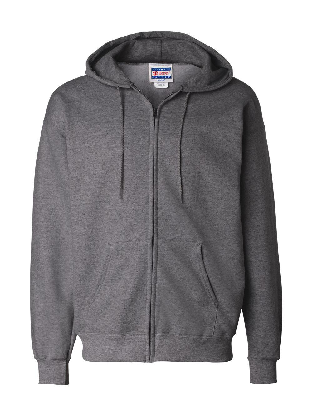 Hanes-Ultimate-Cotton-Full-Zip-Hooded-Sweatshirt-F280 thumbnail 6