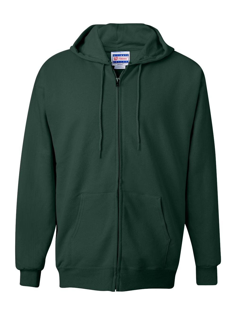 Hanes-Ultimate-Cotton-Full-Zip-Hooded-Sweatshirt-F280 thumbnail 9