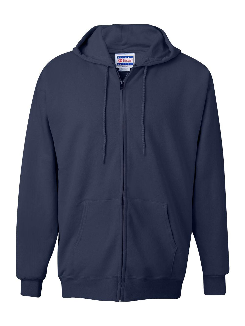 Hanes-Ultimate-Cotton-Full-Zip-Hooded-Sweatshirt-F280 thumbnail 15