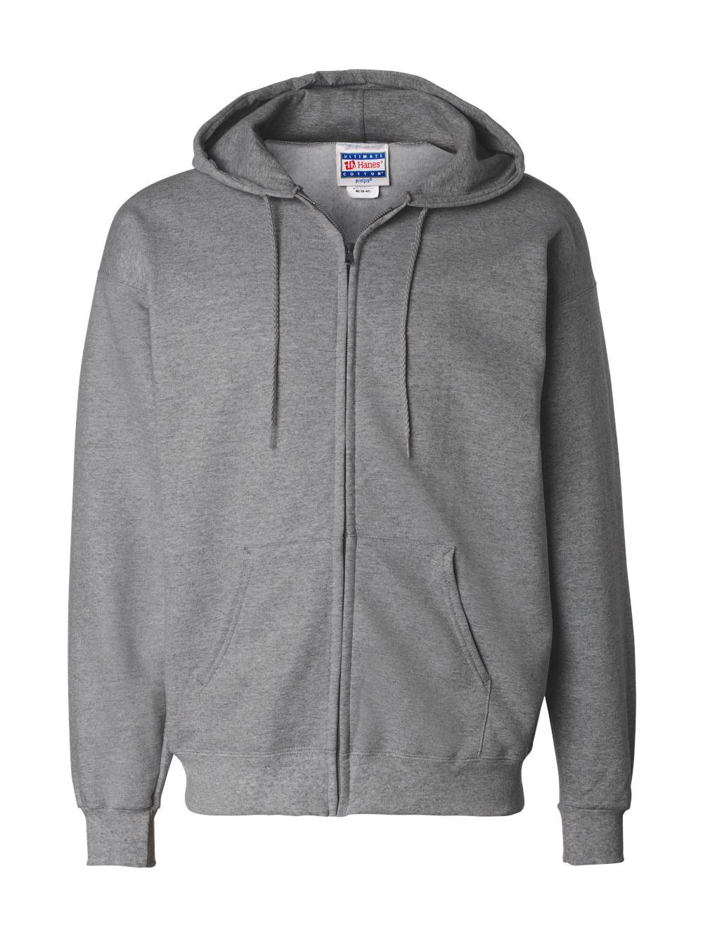 Hanes-Ultimate-Cotton-Full-Zip-Hooded-Sweatshirt-F280 thumbnail 18