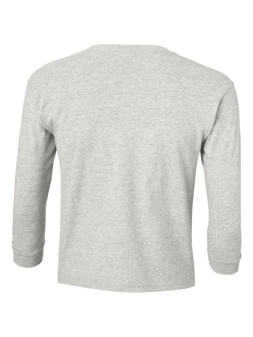 Gildan-Ultra-Cotton-Youth-Long-Sleeve-T-Shirt-2400B thumbnail 4
