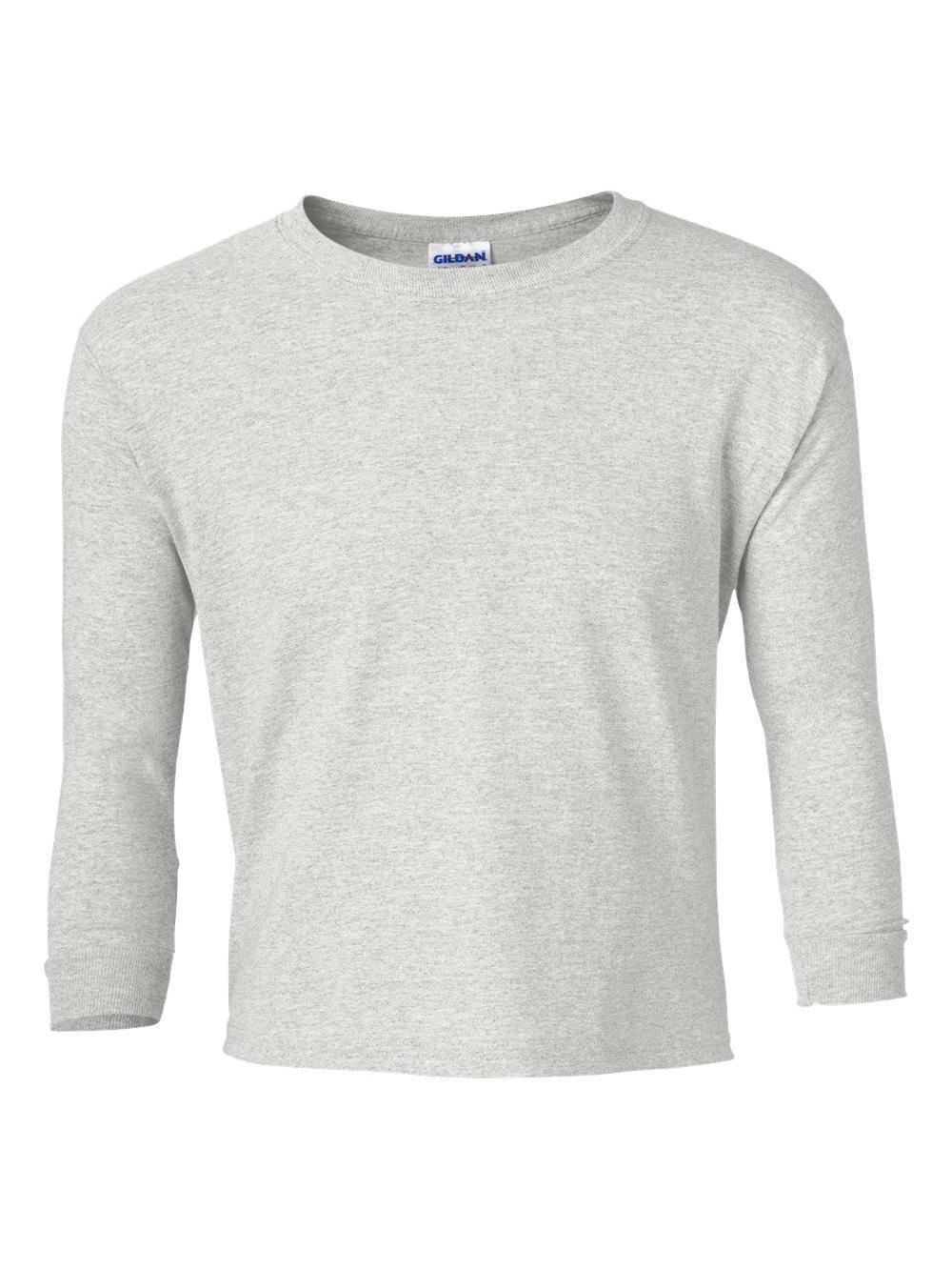 Gildan-Ultra-Cotton-Youth-Long-Sleeve-T-Shirt-2400B thumbnail 3