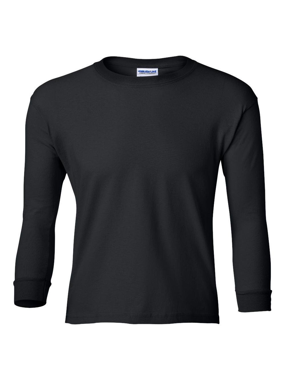 Gildan-Ultra-Cotton-Youth-Long-Sleeve-T-Shirt-2400B thumbnail 6