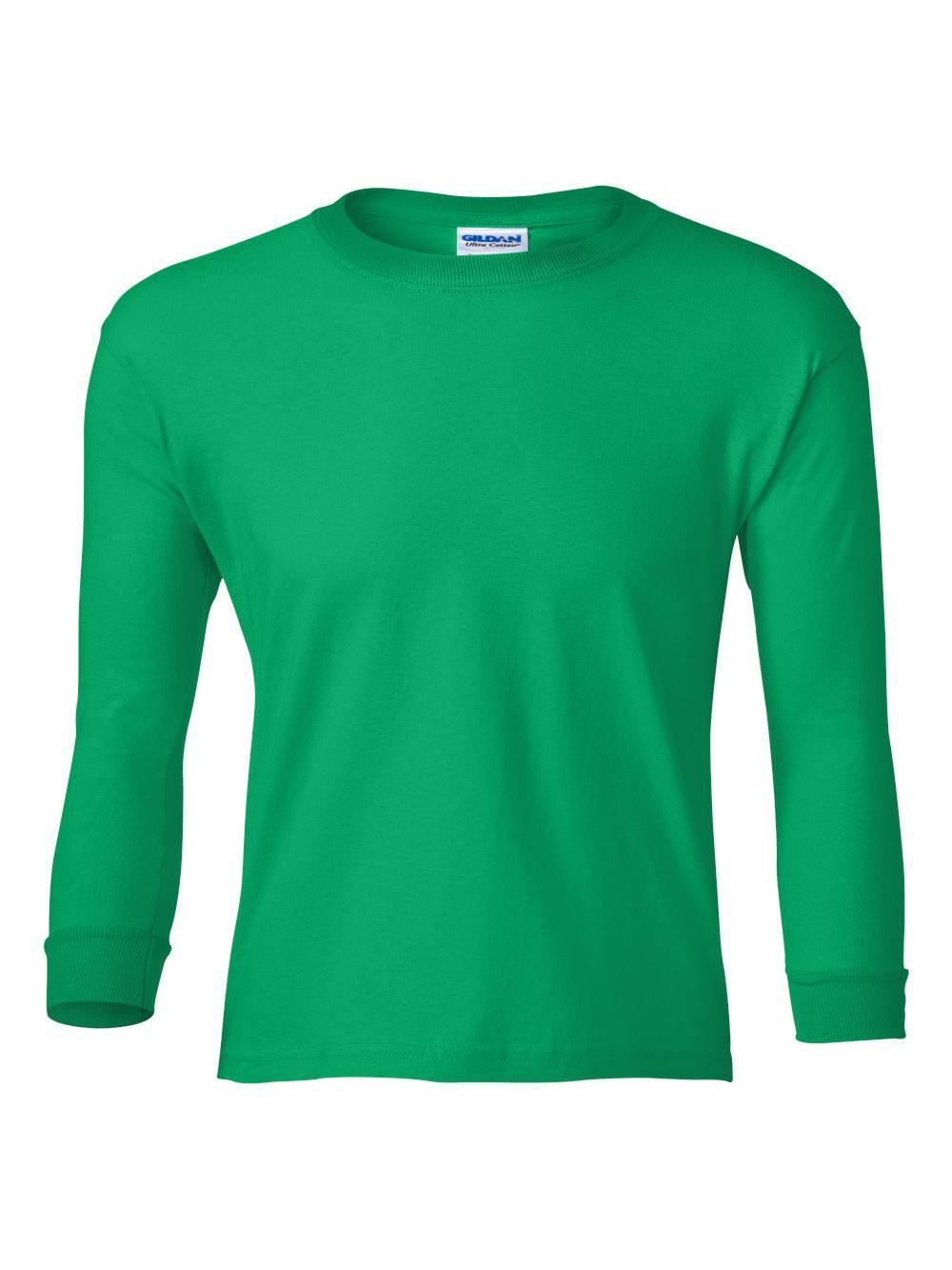 Gildan-Ultra-Cotton-Youth-Long-Sleeve-T-Shirt-2400B thumbnail 12