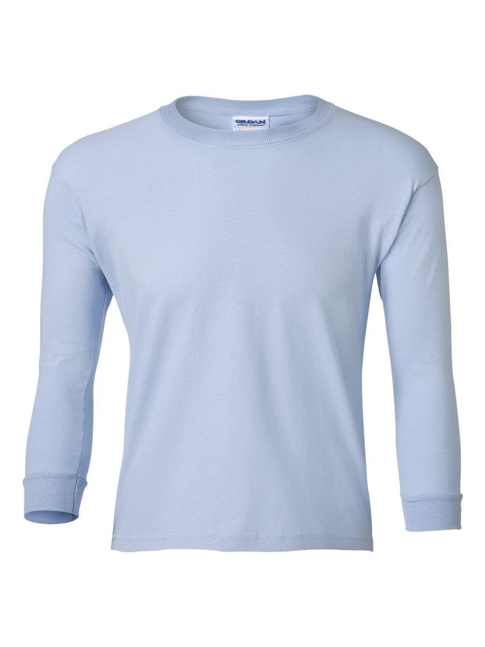 Gildan-Ultra-Cotton-Youth-Long-Sleeve-T-Shirt-2400B thumbnail 15