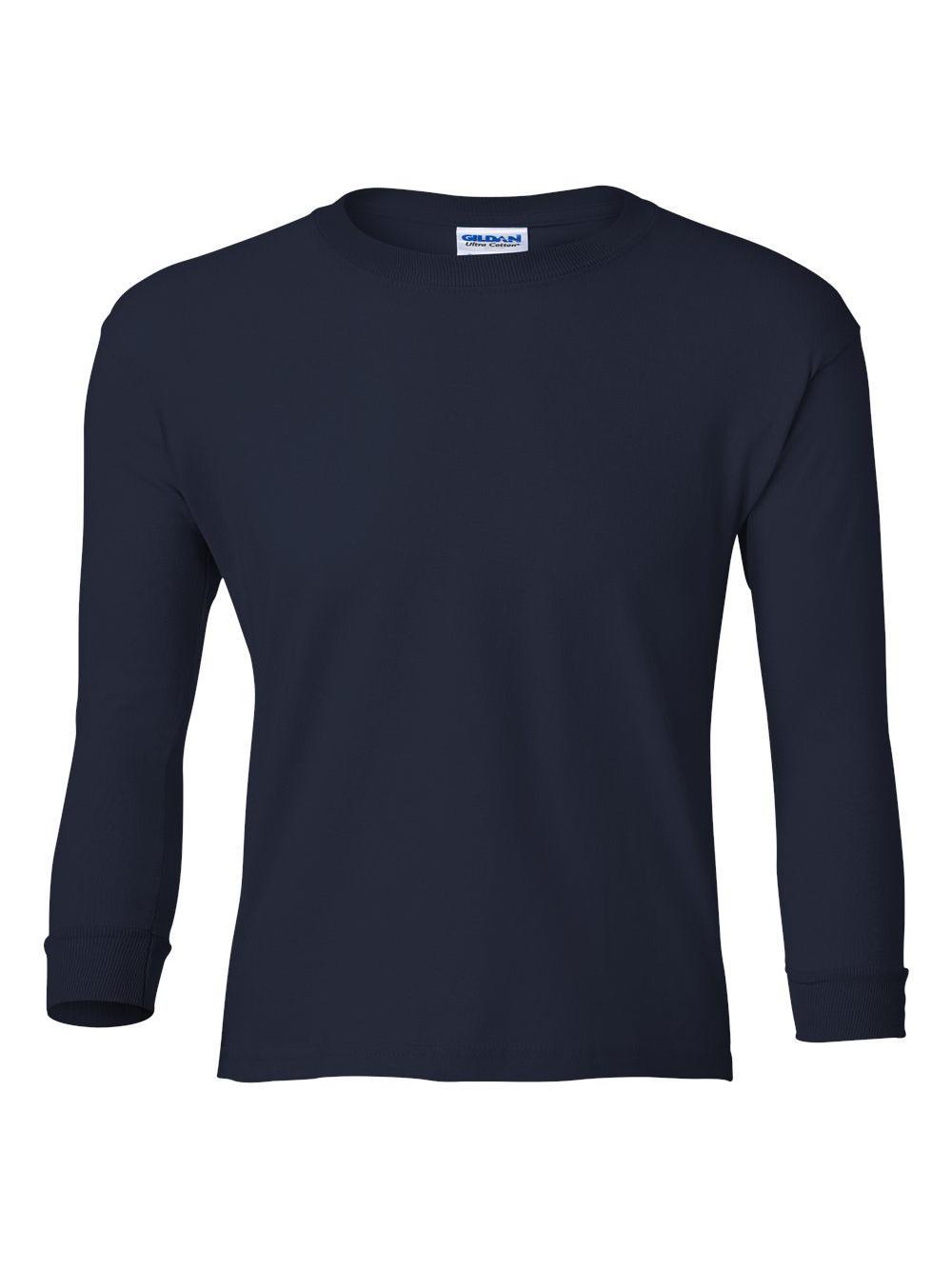 Gildan-Ultra-Cotton-Youth-Long-Sleeve-T-Shirt-2400B thumbnail 24