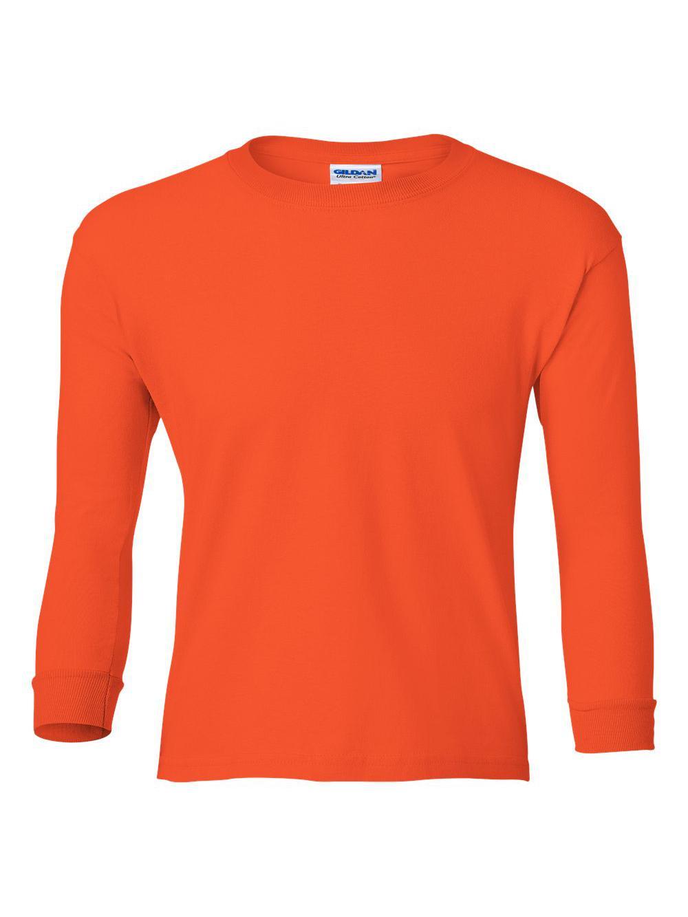 Gildan-Ultra-Cotton-Youth-Long-Sleeve-T-Shirt-2400B thumbnail 27
