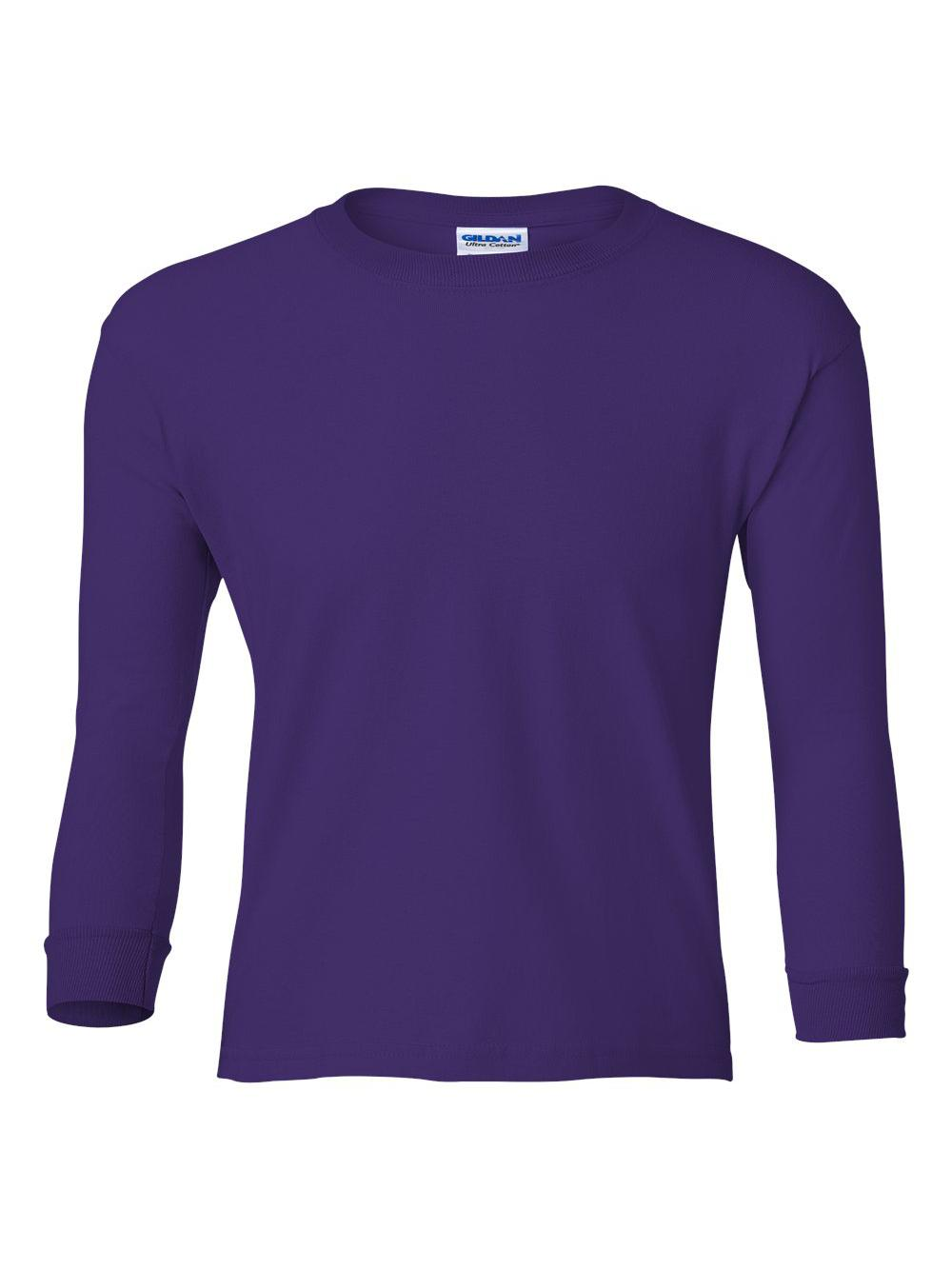 Gildan-Ultra-Cotton-Youth-Long-Sleeve-T-Shirt-2400B thumbnail 30