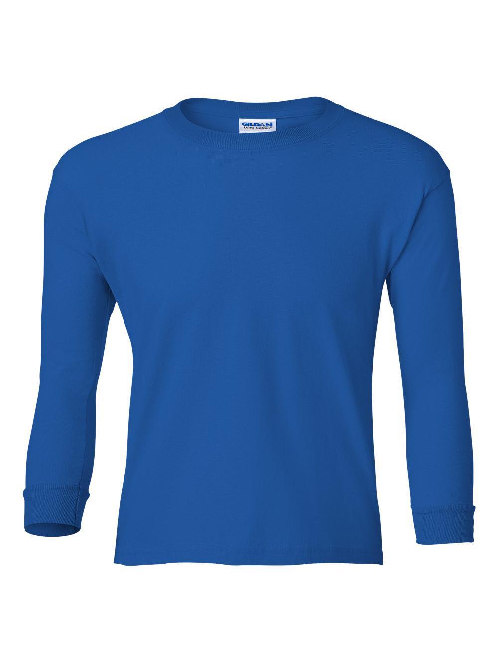 Gildan-Ultra-Cotton-Youth-Long-Sleeve-T-Shirt-2400B thumbnail 36