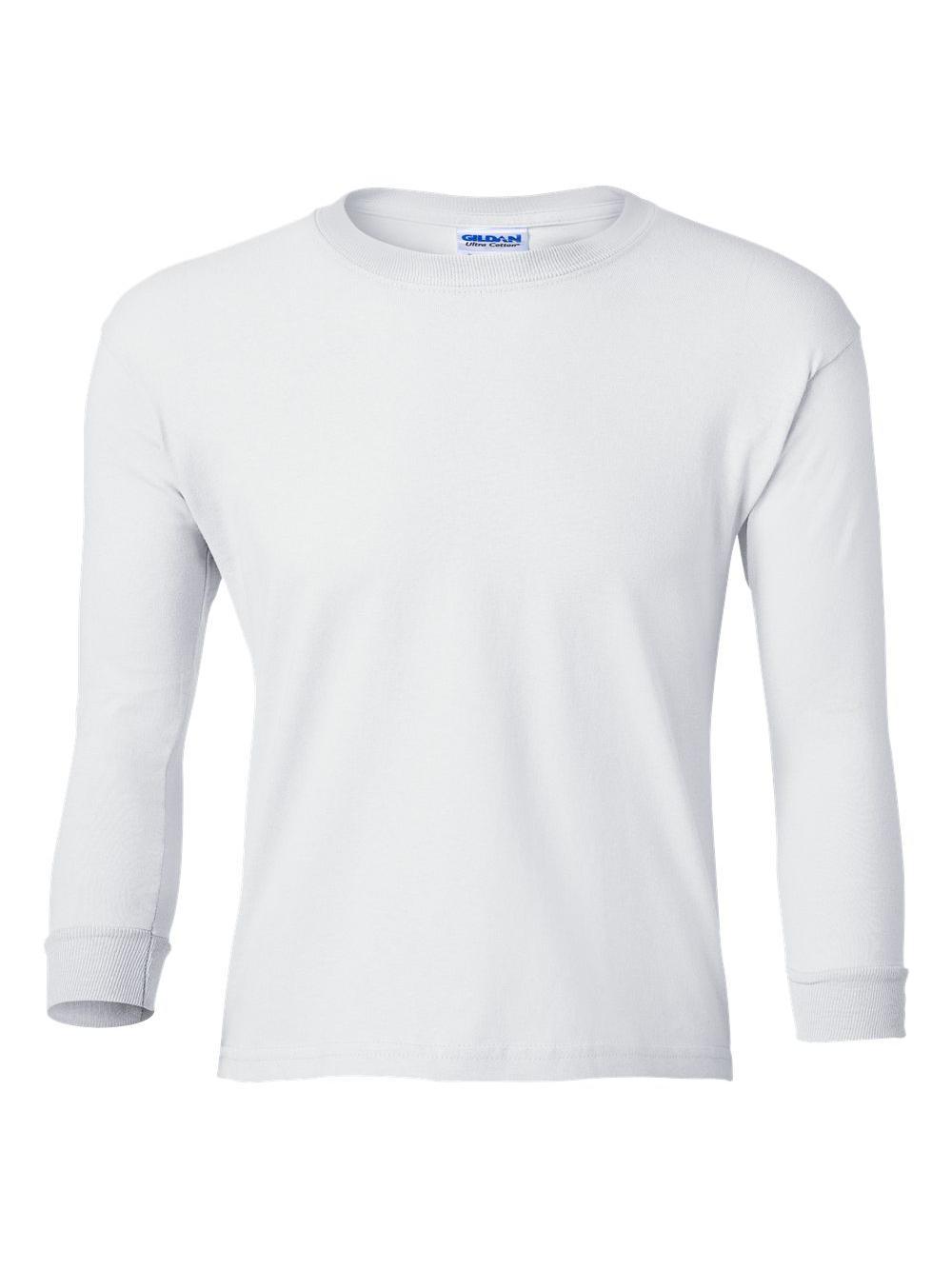 Gildan-Ultra-Cotton-Youth-Long-Sleeve-T-Shirt-2400B thumbnail 45