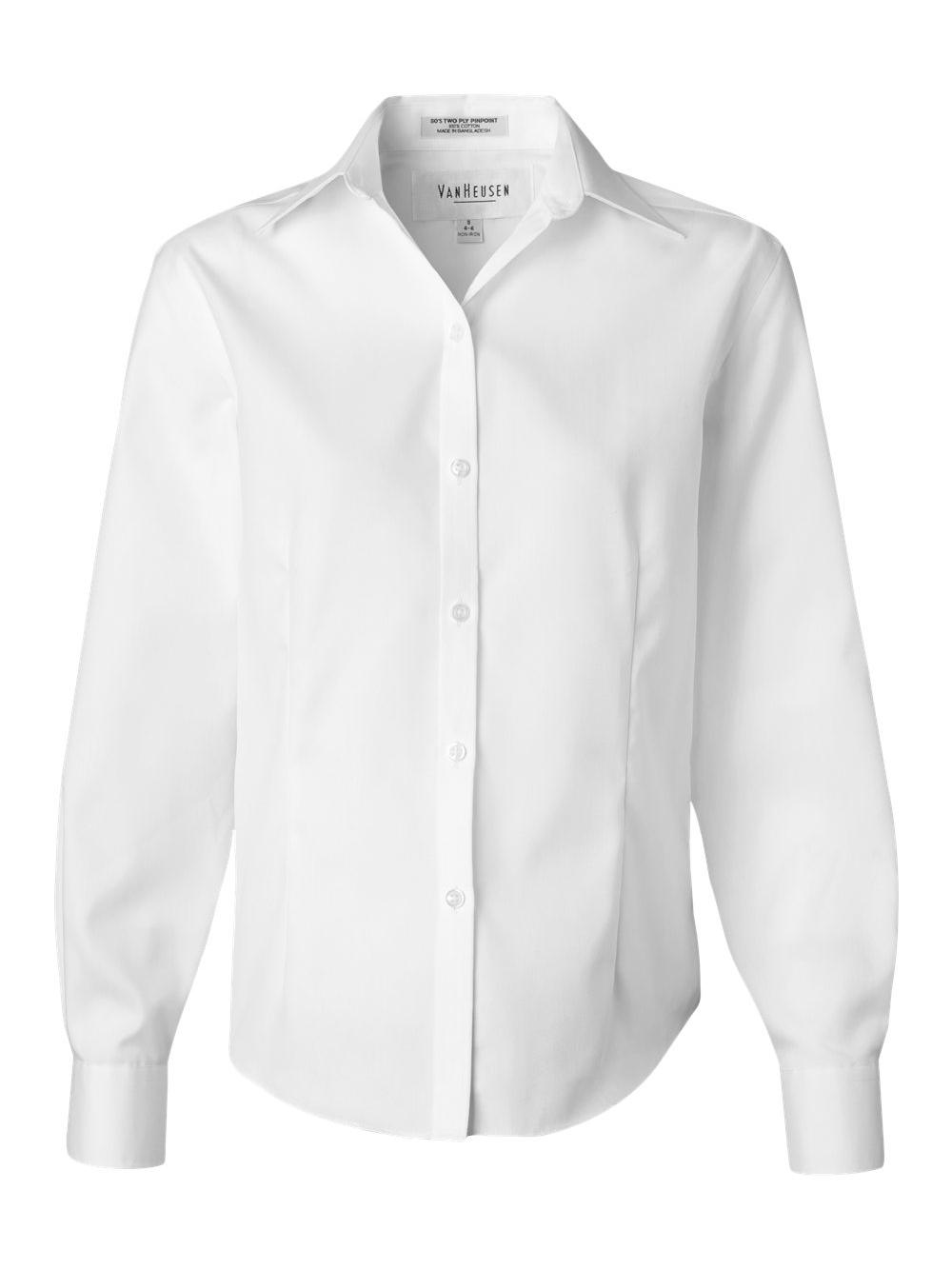 Van-Heusen-Women-039-s-Non-Iron-Pinpoint-Oxford-Shirt-13V0144 thumbnail 12