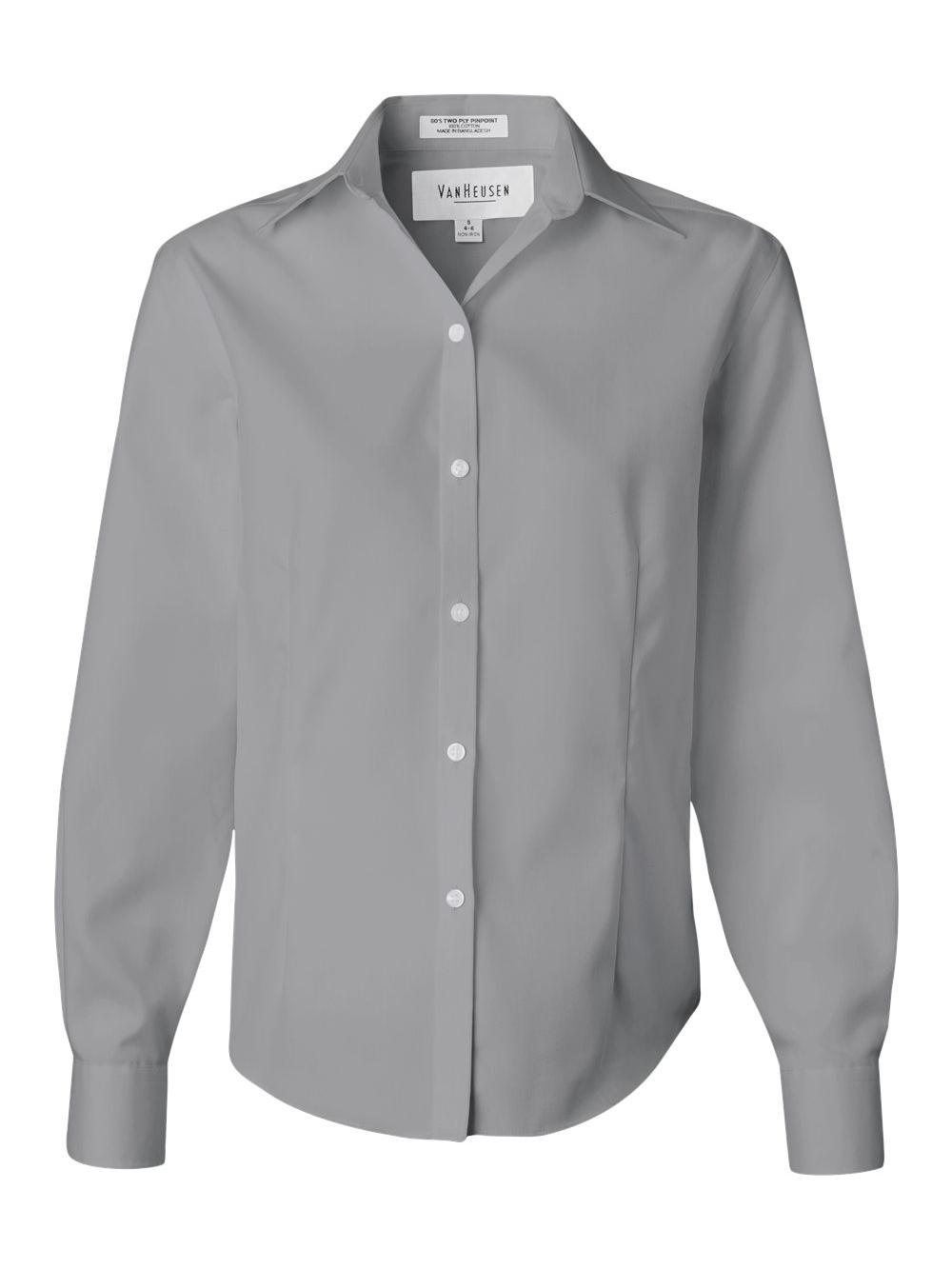 Van-Heusen-Women-039-s-Non-Iron-Pinpoint-Oxford-Shirt-13V0144 thumbnail 9