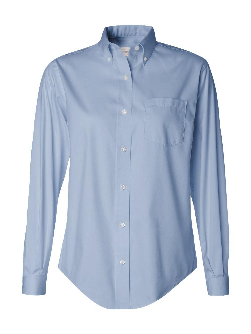 Van-Heusen-Women-039-s-Pinpoint-Oxford-Shirt-13V0110 thumbnail 3