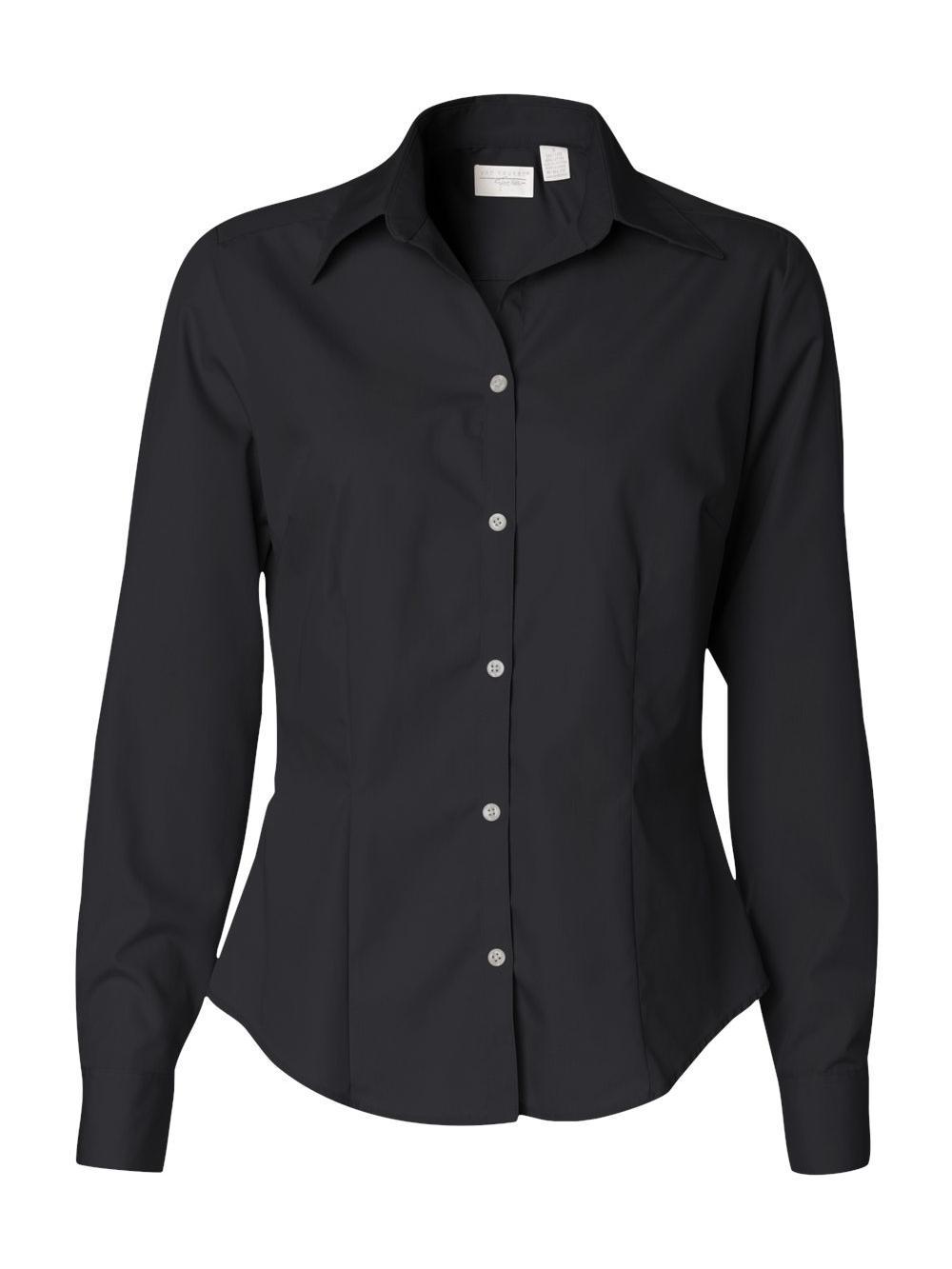 Van-Heusen-Women-039-s-Silky-Poplin-Shirt-13V0114 thumbnail 3