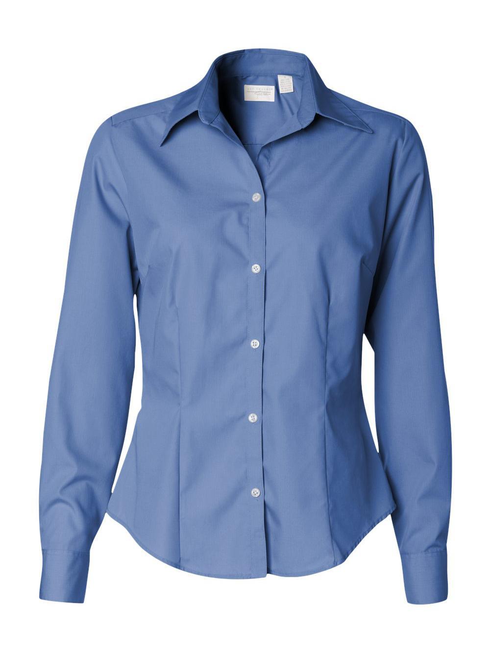 Van-Heusen-Women-039-s-Silky-Poplin-Shirt-13V0114 thumbnail 6