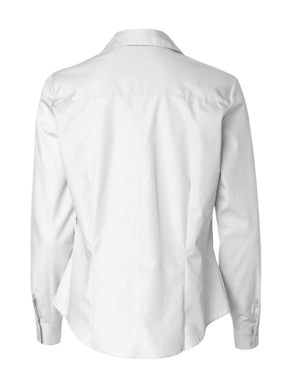 Van-Heusen-Women-039-s-Silky-Poplin-Shirt-13V0114 thumbnail 16