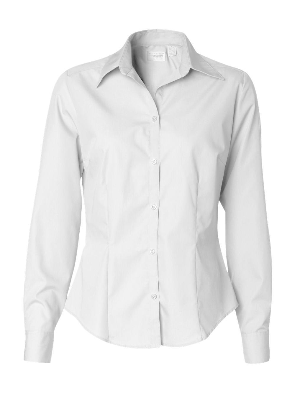 Van-Heusen-Women-039-s-Silky-Poplin-Shirt-13V0114 thumbnail 15