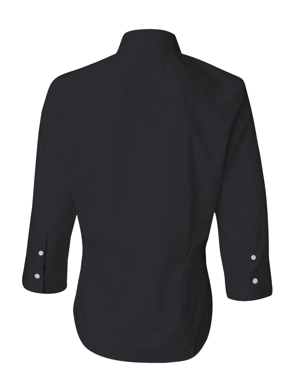 Van-Heusen-Women-039-s-Three-Quarter-Sleeve-Baby-Twill-Shirt-13V0527 thumbnail 4