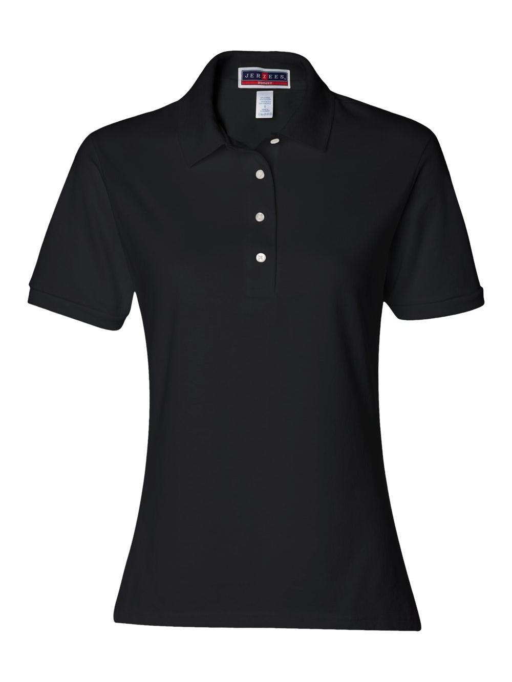 Jerzees-Women-039-s-Spotshield-50-50-Sport-Shirt-437WR thumbnail 3
