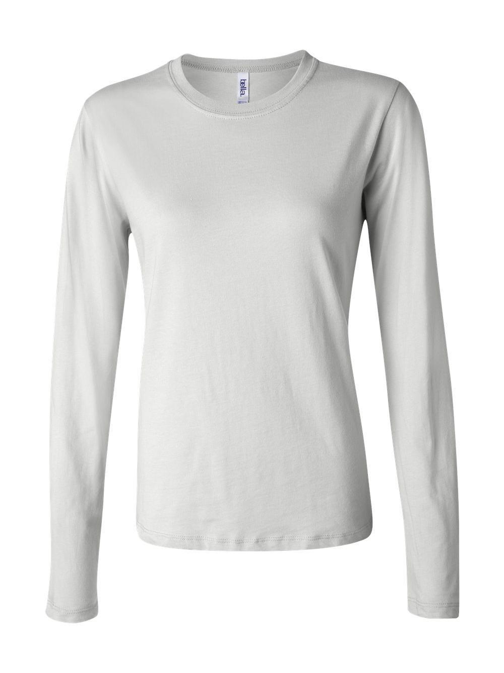 Bella-Canvas-Women-039-s-Long-Sleeve-Jersey-Tee-6500 thumbnail 9