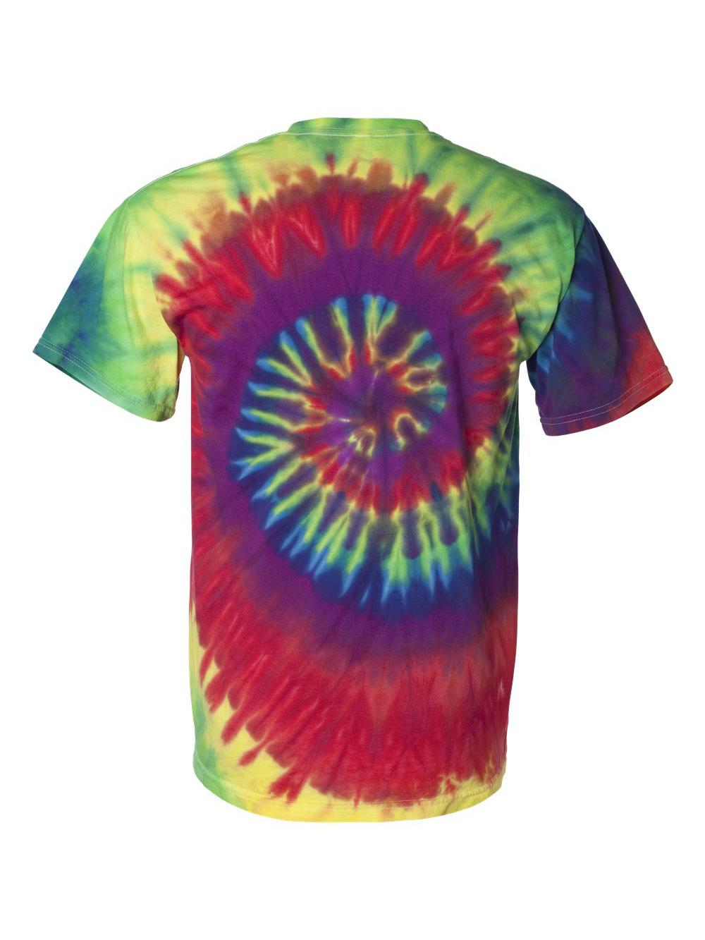 Dyenomite-Multi-Color-Spiral-Short-Sleeve-T-Shirt-200MS thumbnail 11
