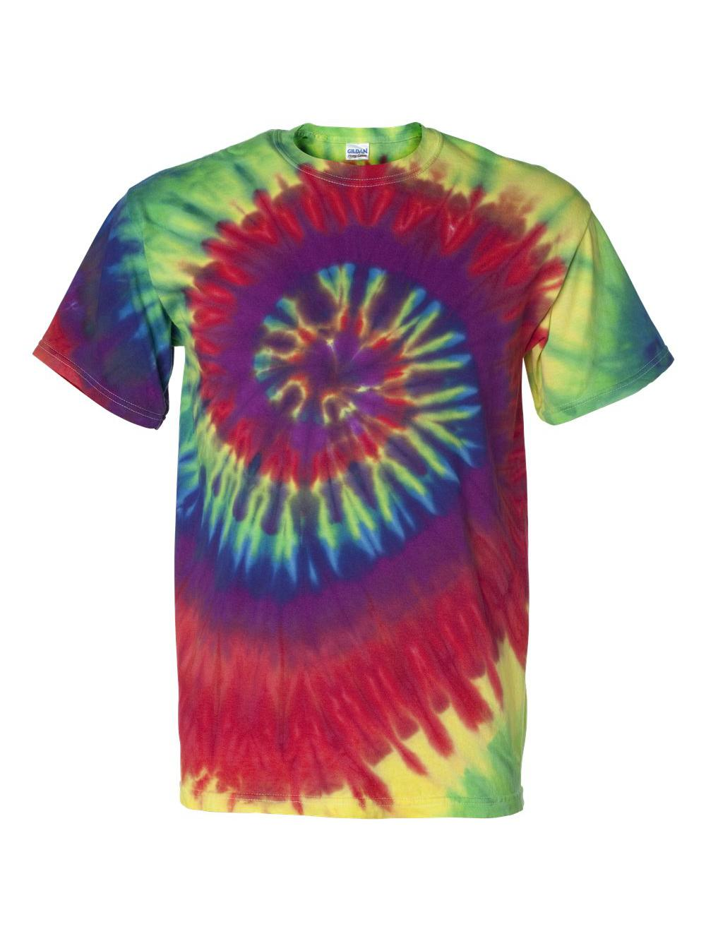 Dyenomite-Multi-Color-Spiral-Short-Sleeve-T-Shirt-200MS thumbnail 10