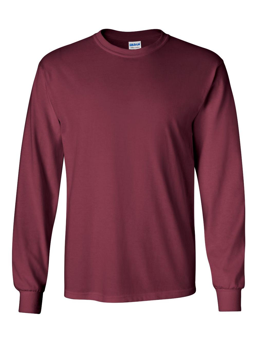 Gildan-Ultra-Cotton-Long-Sleeve-T-Shirt-2400 thumbnail 42