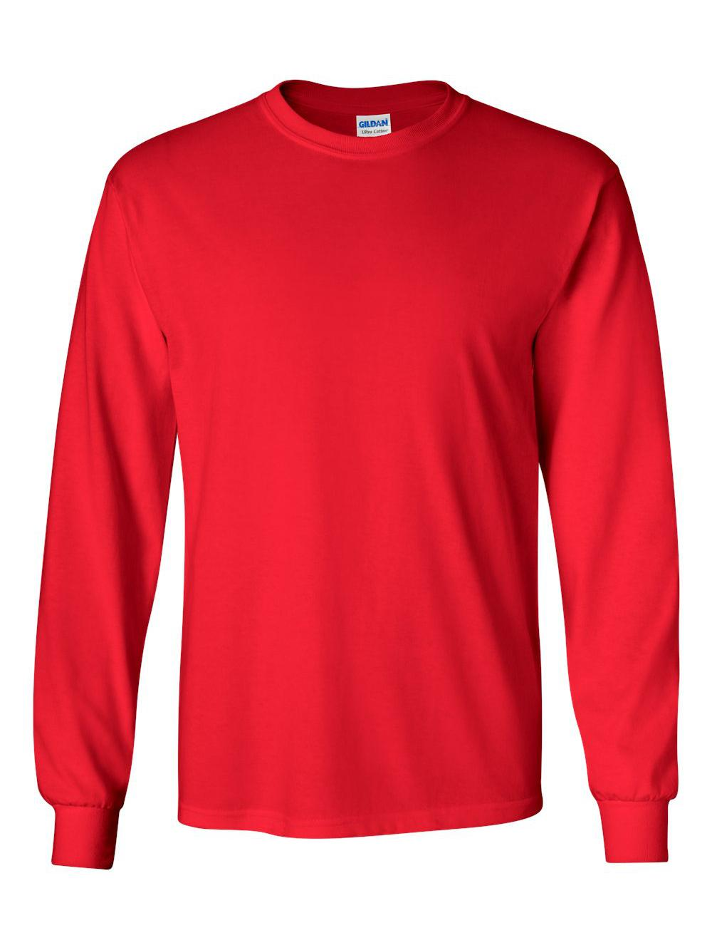 Gildan-Ultra-Cotton-Long-Sleeve-T-Shirt-2400 thumbnail 60