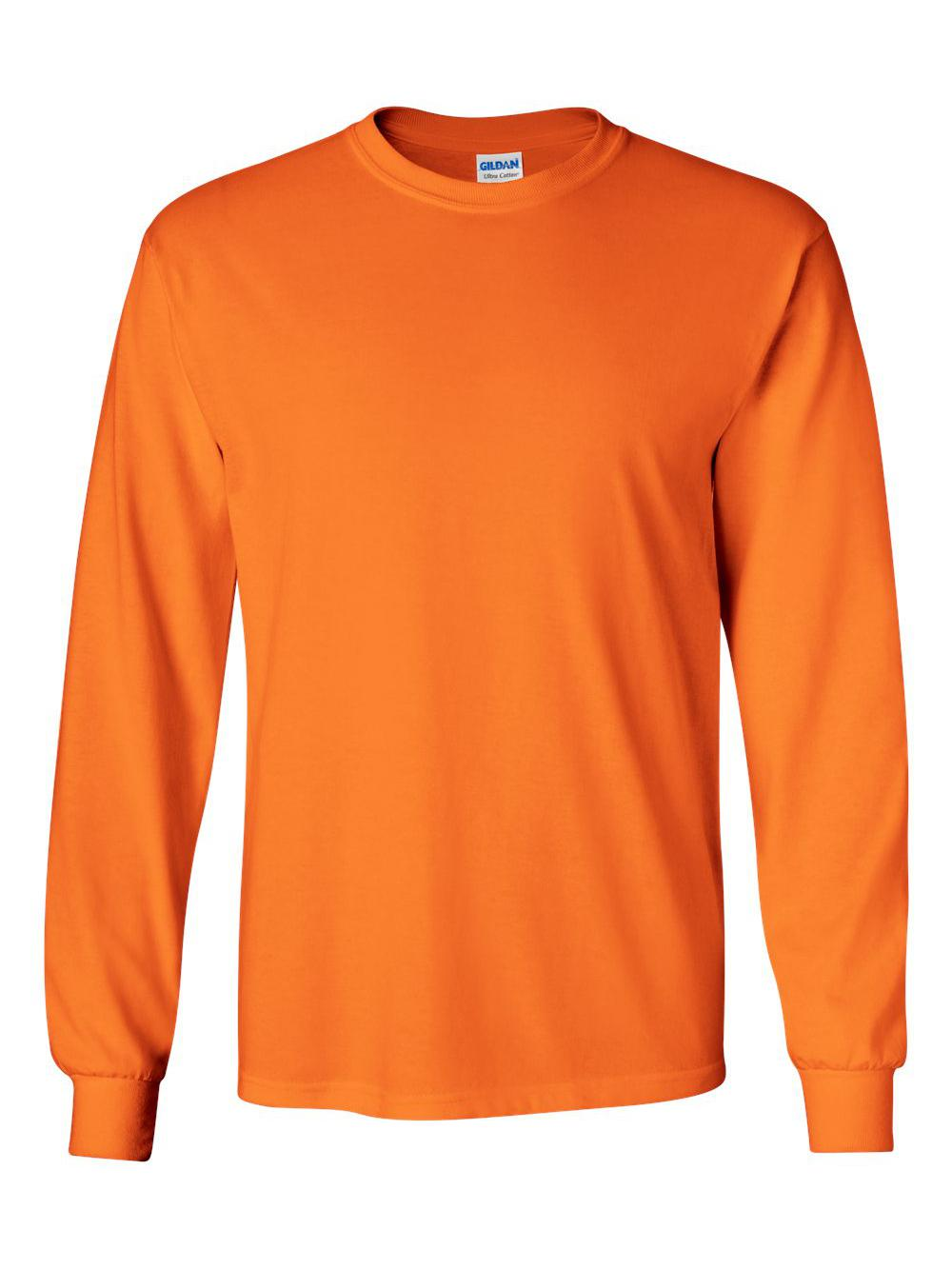 Gildan-Ultra-Cotton-Long-Sleeve-T-Shirt-2400 thumbnail 69
