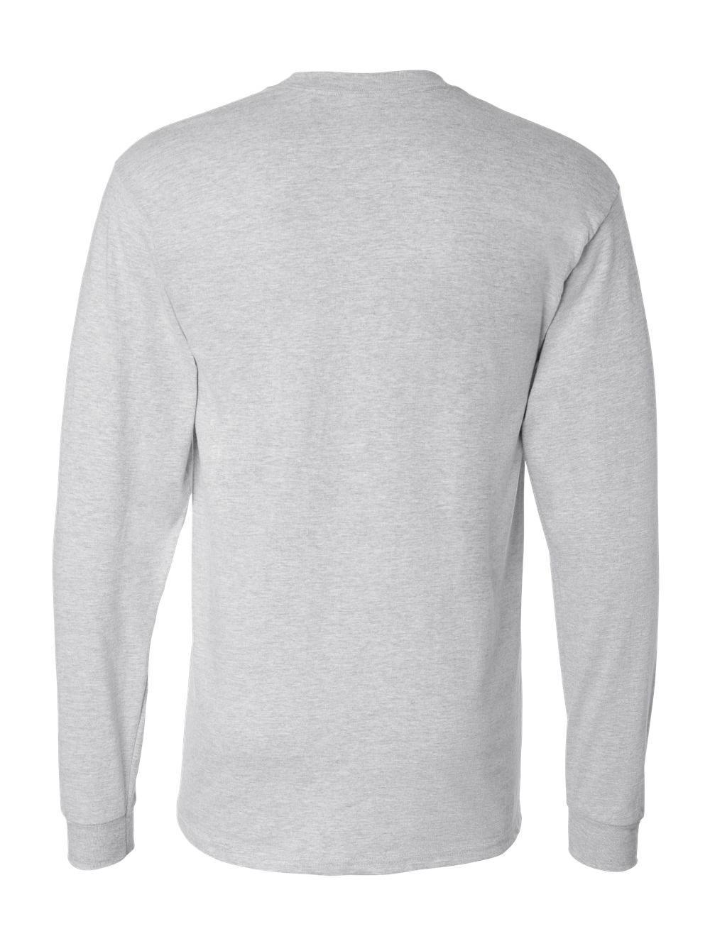 Hanes-Beefy-T-Long-Sleeve-T-Shirt-5186 thumbnail 4