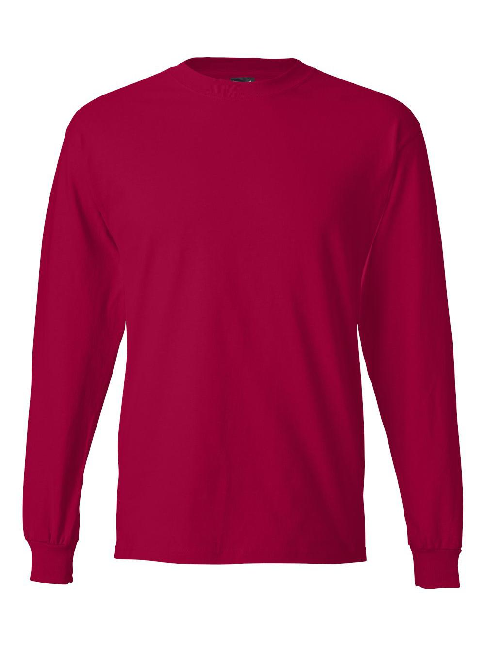 Hanes-Beefy-T-Long-Sleeve-T-Shirt-5186 thumbnail 27