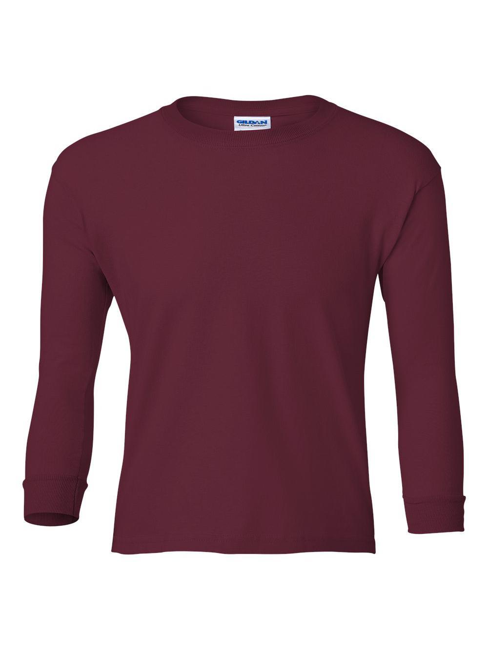 Gildan-Ultra-Cotton-Youth-Long-Sleeve-T-Shirt-2400B thumbnail 21
