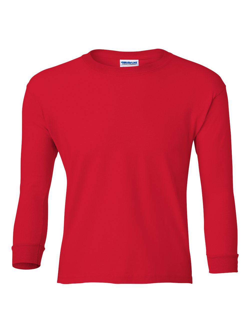 Gildan-Ultra-Cotton-Youth-Long-Sleeve-T-Shirt-2400B thumbnail 33