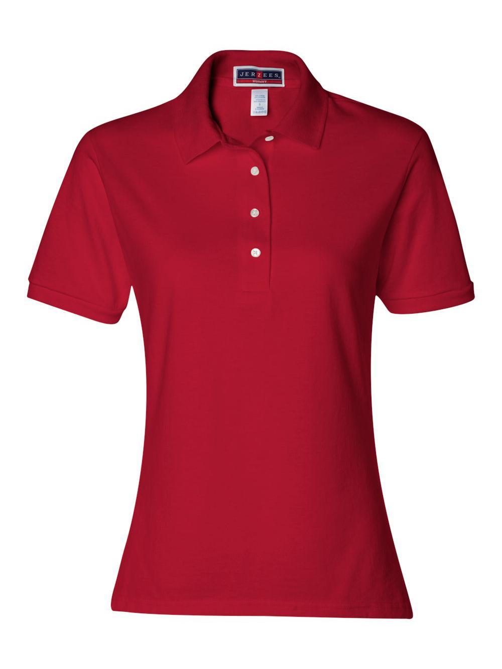 Jerzees-Women-039-s-Spotshield-50-50-Sport-Shirt-437WR thumbnail 33