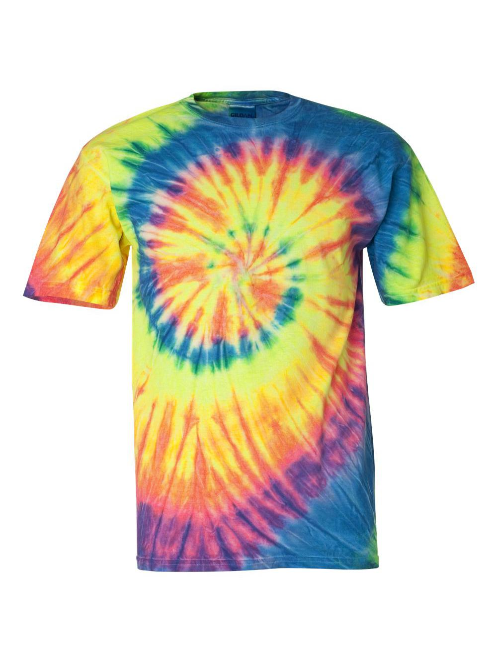 Dyenomite-Multi-Color-Spiral-Short-Sleeve-T-Shirt-200MS thumbnail 20