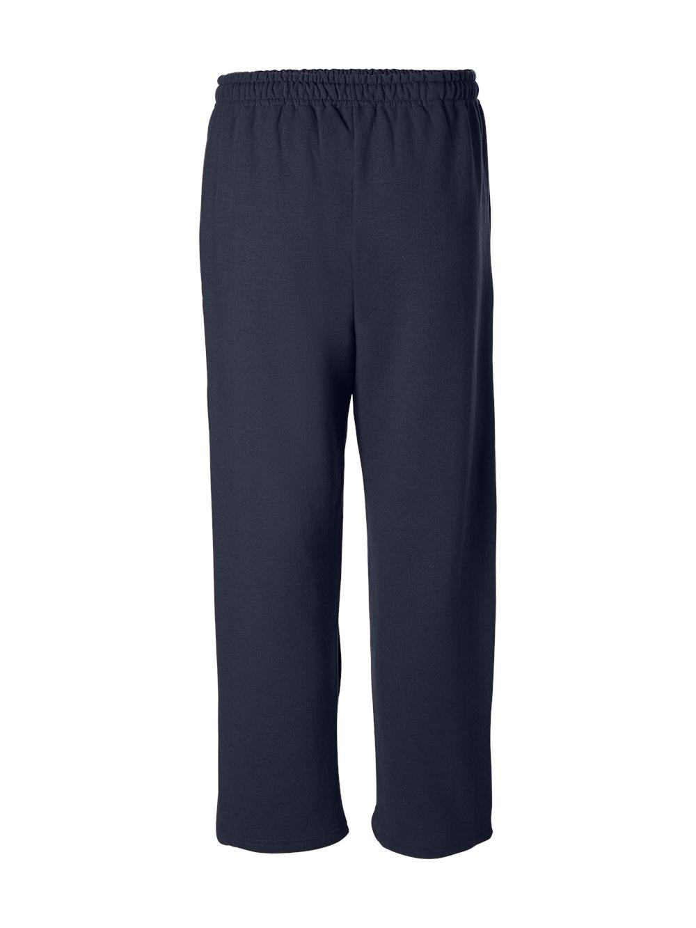Gildan-Heavy-Blend-Open-Bottom-Sweatpants-18400 thumbnail 19