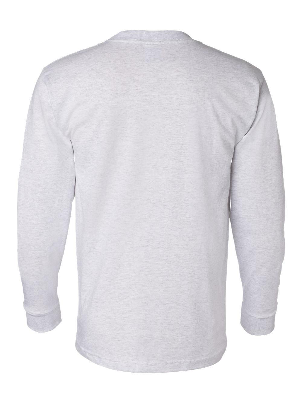 Bayside-USA-Made-Long-Sleeve-T-Shirt-with-a-Pocket-8100 thumbnail 4