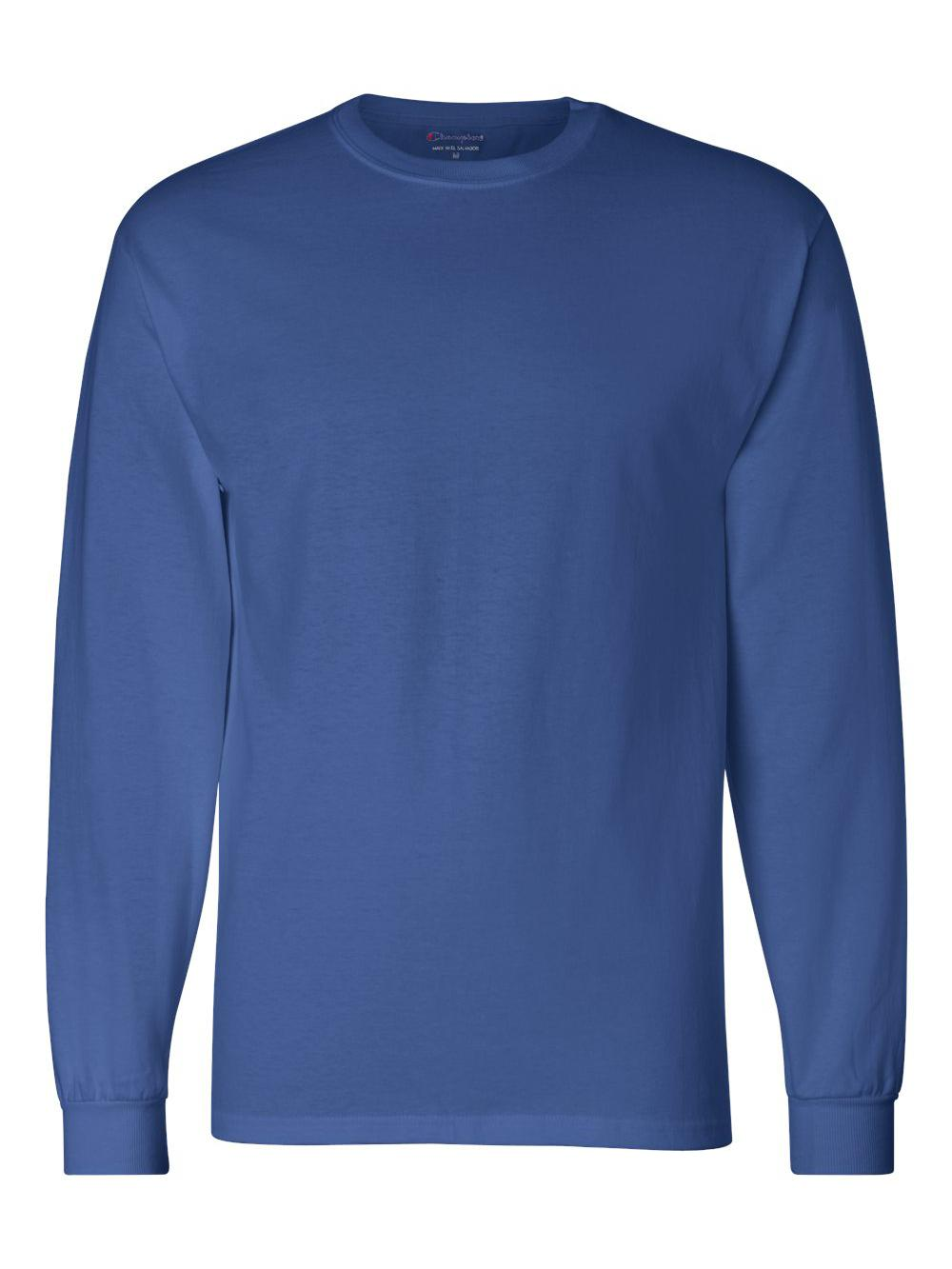 4fd9e5b5e2f4 Champion Cc8c Adult Long-sleeve T-shirt Royal Blue Medium for sale ...