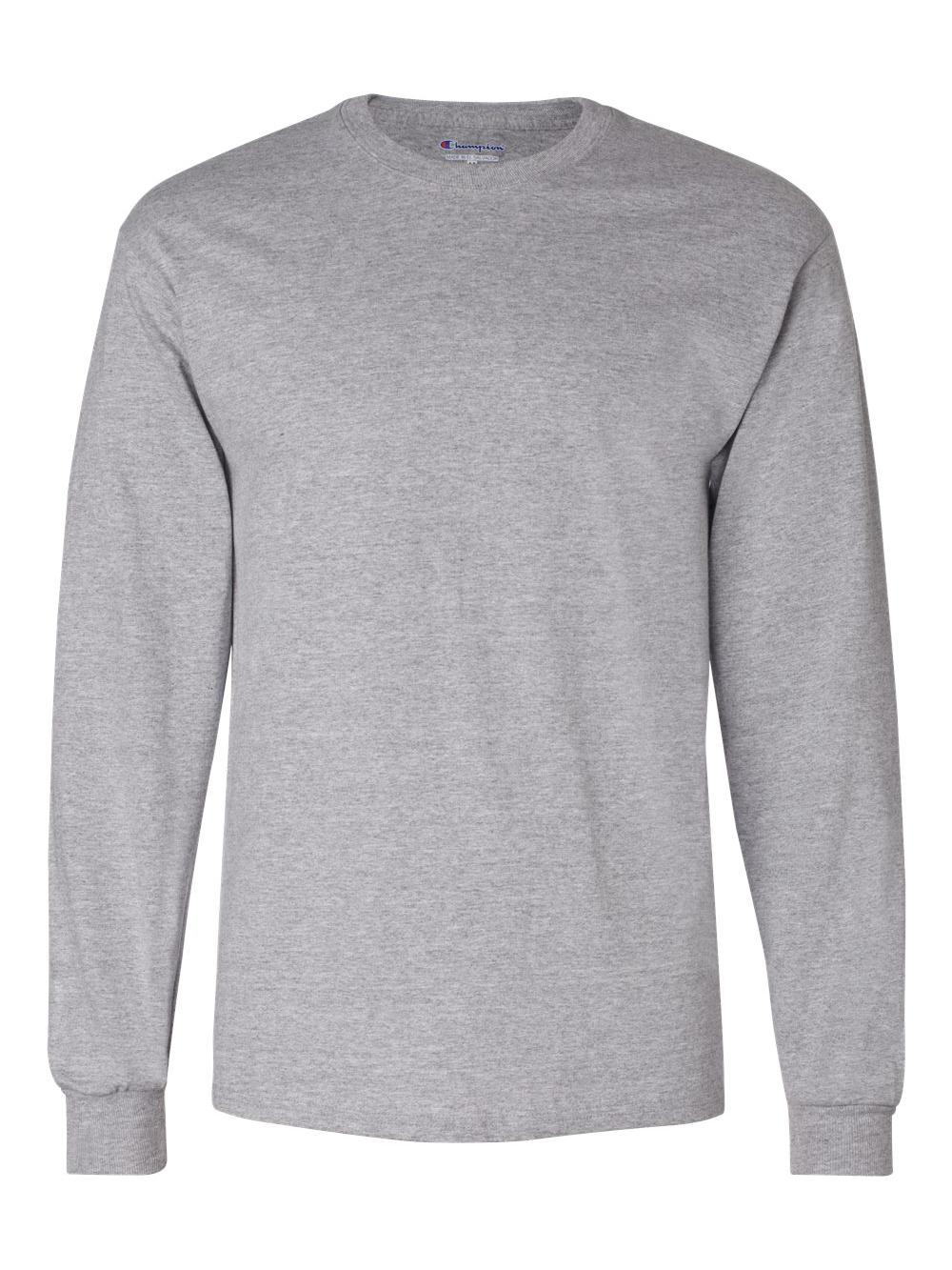 318c4690 Champion Men S Blank Long Sleeve Tagless Crewneck T-shirt Cc8c S-2xl ...
