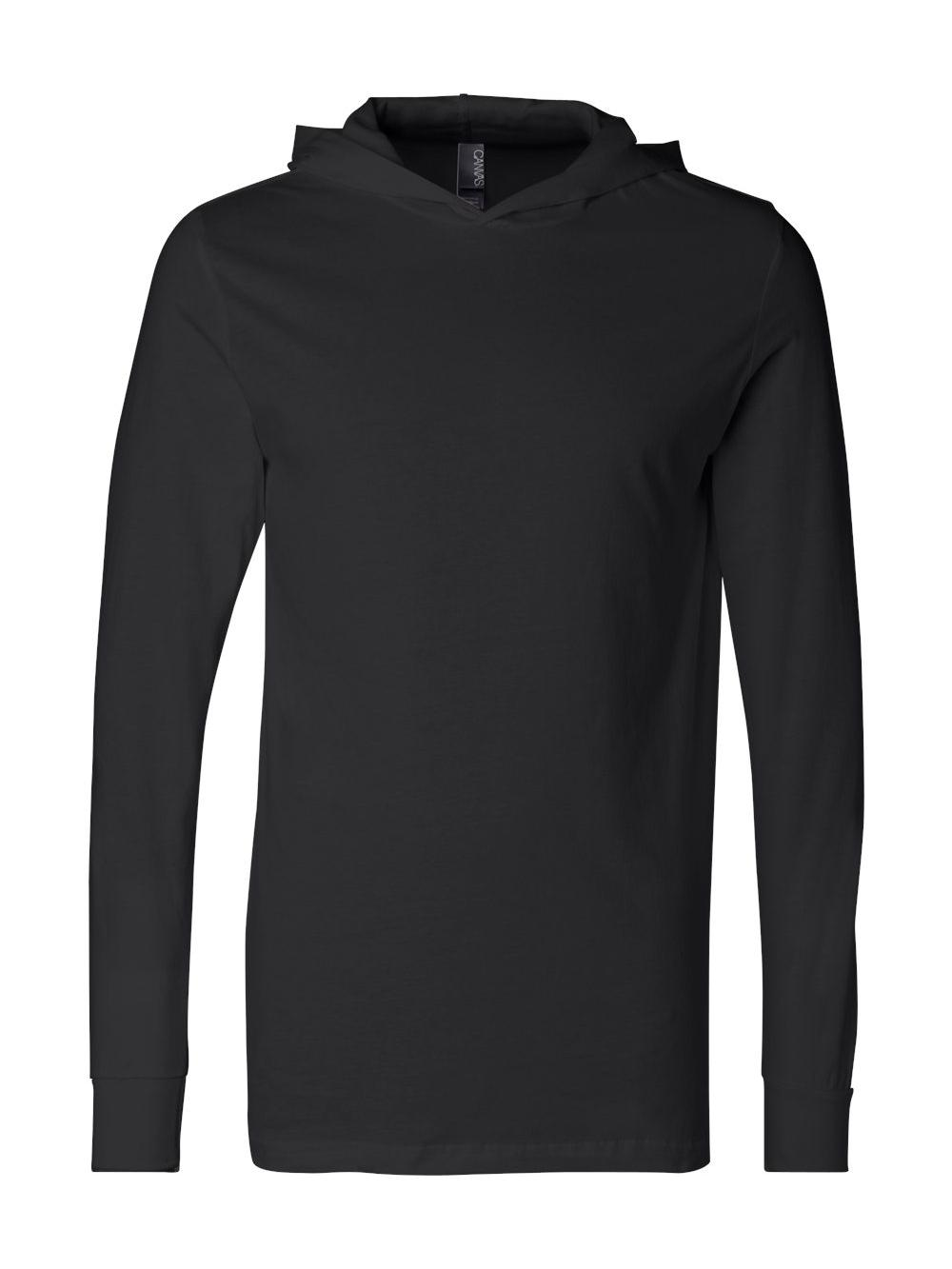 Bella-Canvas-Unisex-Long-Sleeve-Jersey-Hooded-Tee-3512 thumbnail 6