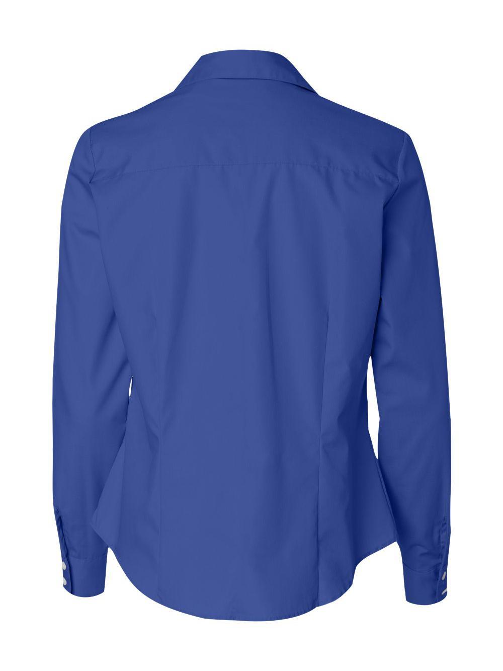Van-Heusen-Women-039-s-Silky-Poplin-Shirt-13V0114 thumbnail 10
