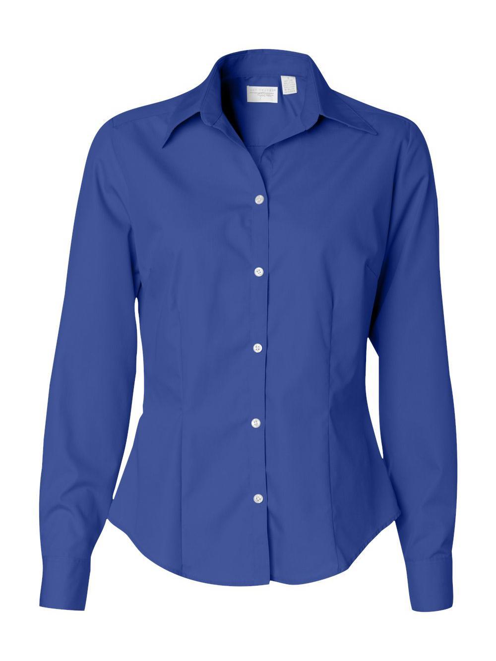 Van-Heusen-Women-039-s-Silky-Poplin-Shirt-13V0114 thumbnail 9