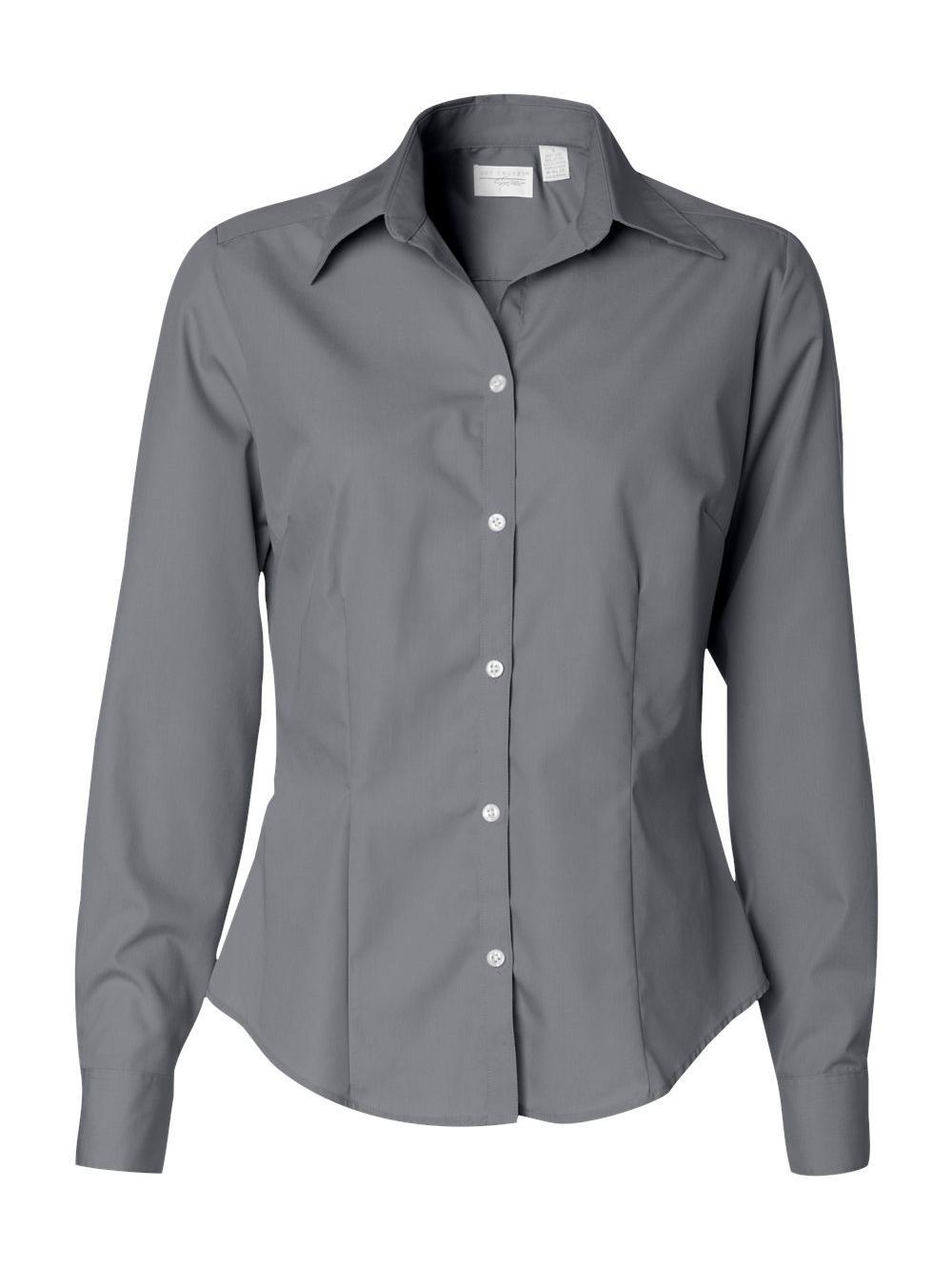 Van-Heusen-Women-039-s-Silky-Poplin-Shirt-13V0114 thumbnail 12