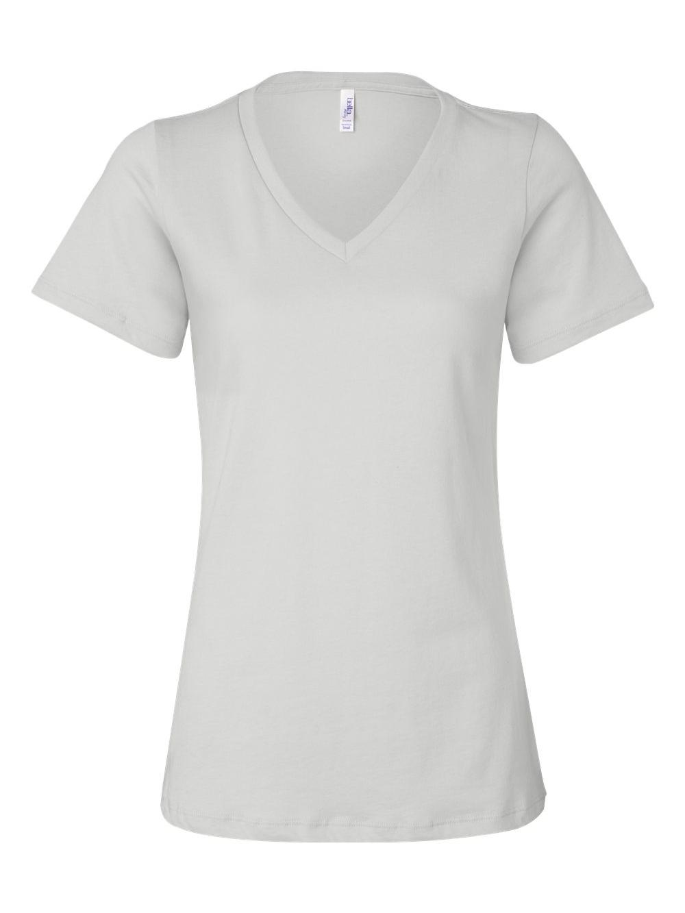 Bella-Canvas-Women-039-s-Relaxed-Short-Sleeve-Jersey-V-Neck-Tee-6405 thumbnail 54
