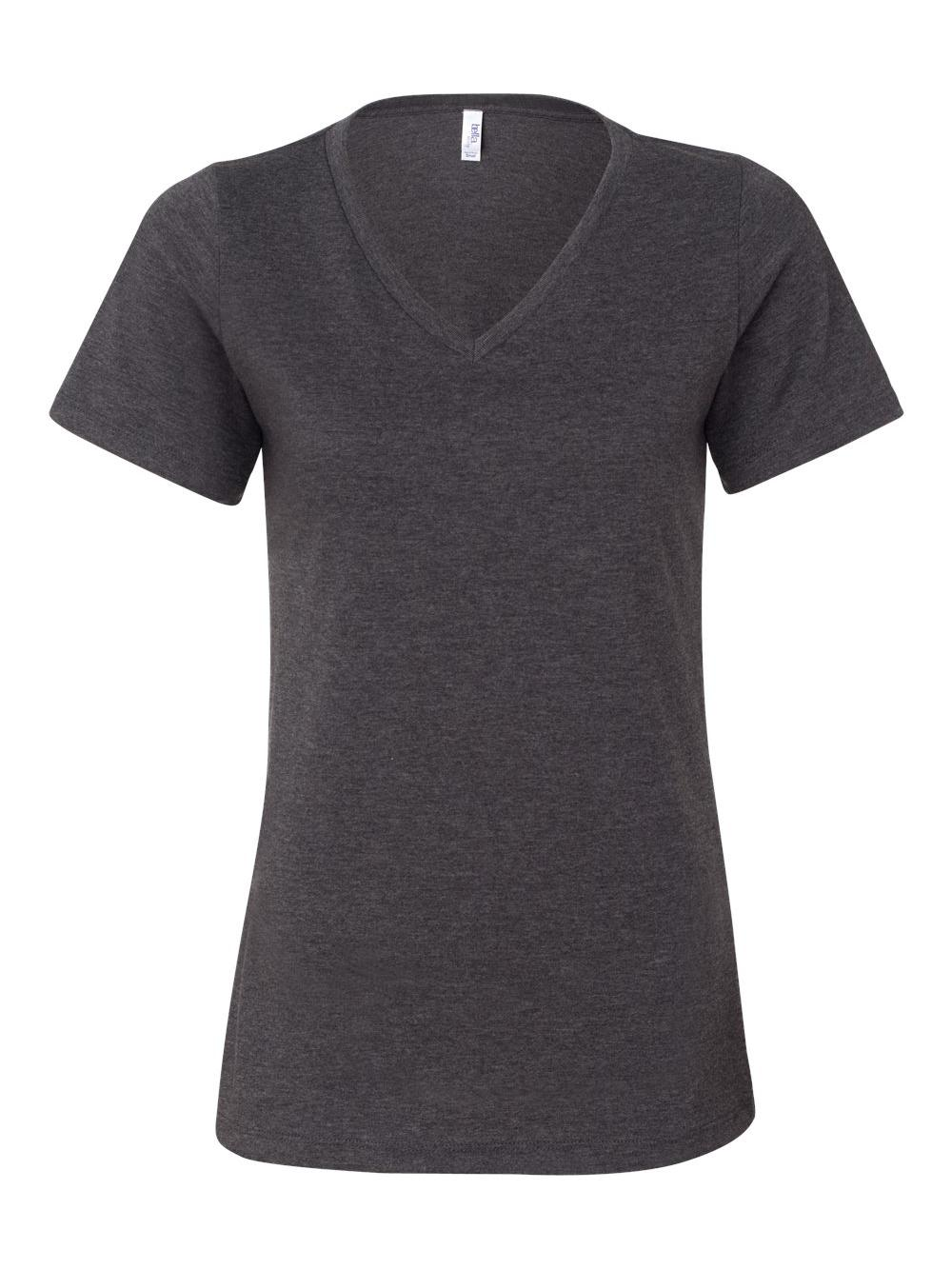 Bella-Canvas-Women-039-s-Relaxed-Short-Sleeve-Jersey-V-Neck-Tee-6405 thumbnail 18