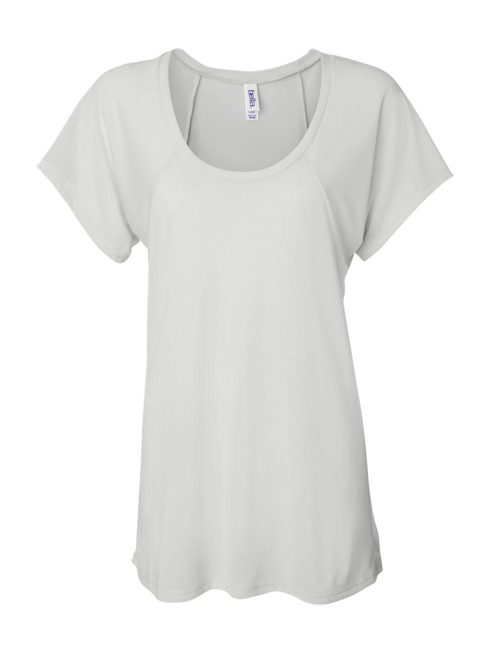 Bella-Canvas-Women-039-s-Flowy-Raglan-Tee-8801 thumbnail 18