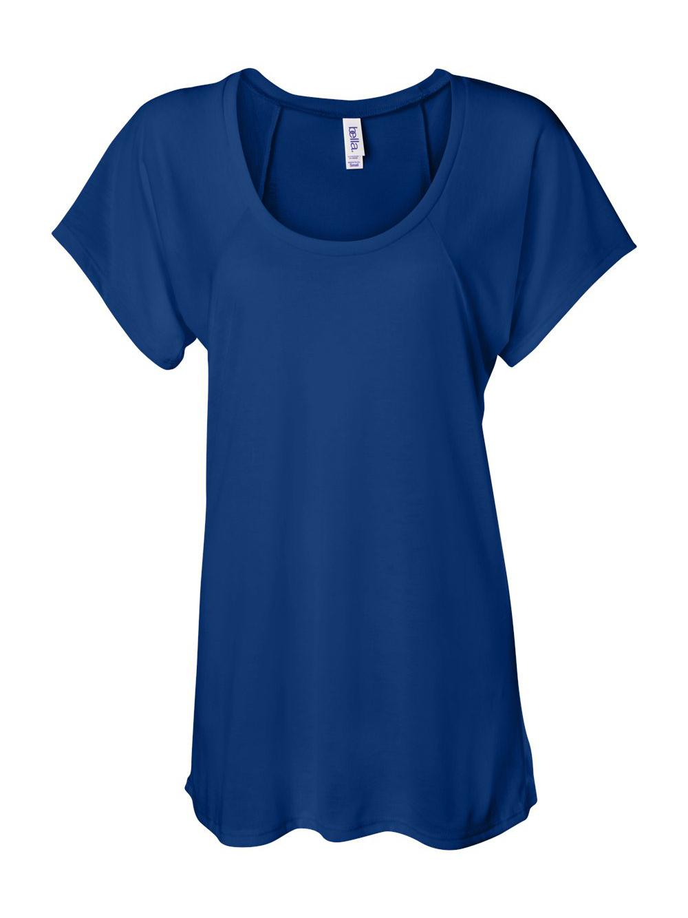 Bella-Canvas-Women-039-s-Flowy-Raglan-Tee-8801 thumbnail 15