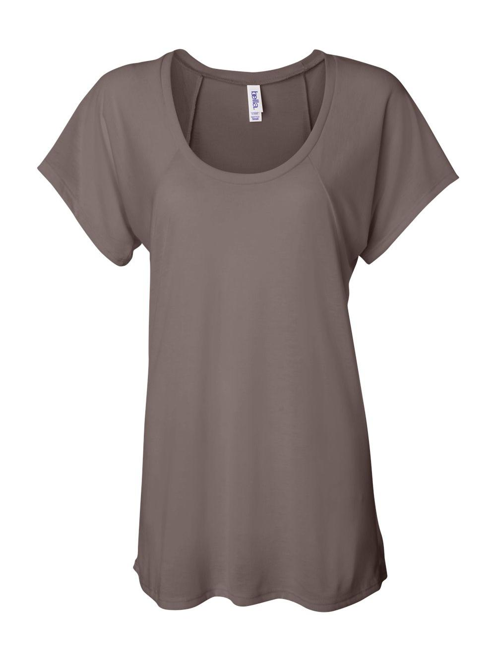 Bella-Canvas-Women-039-s-Flowy-Raglan-Tee-8801 thumbnail 9