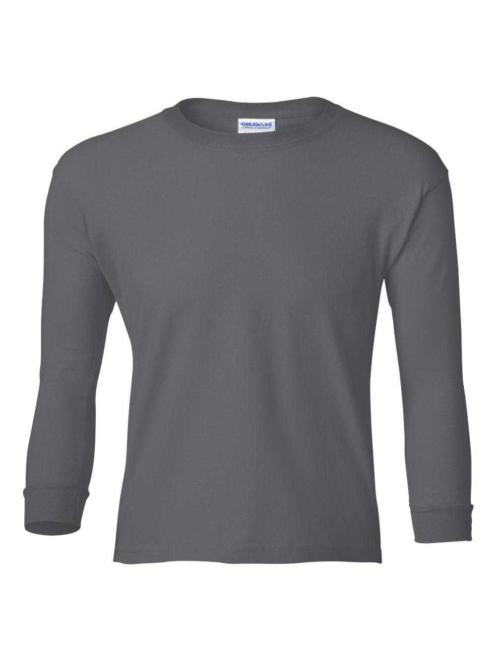 Gildan-Ultra-Cotton-Youth-Long-Sleeve-T-Shirt-2400B thumbnail 9